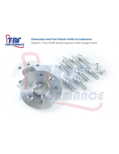 4x98 Abarth 500 / Fiat wheel spacers