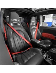 Abarth 500 custom seatbelts