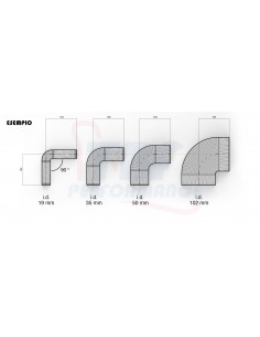 D. 102 mm 90° silicone curve
