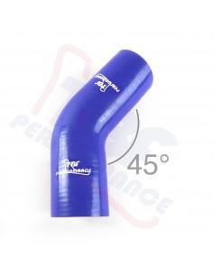 D. 90 mm curva 45° silicone